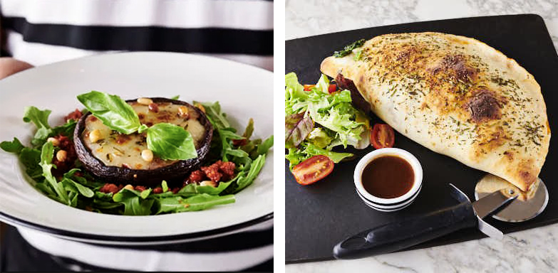pizza express vegan calzone