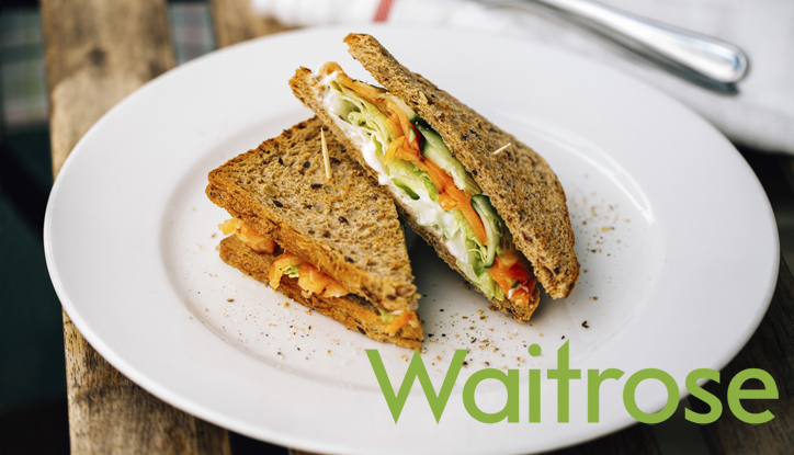 Waitrose launches a vegan smoked 'salmon' sandwich in its grab-and-go range