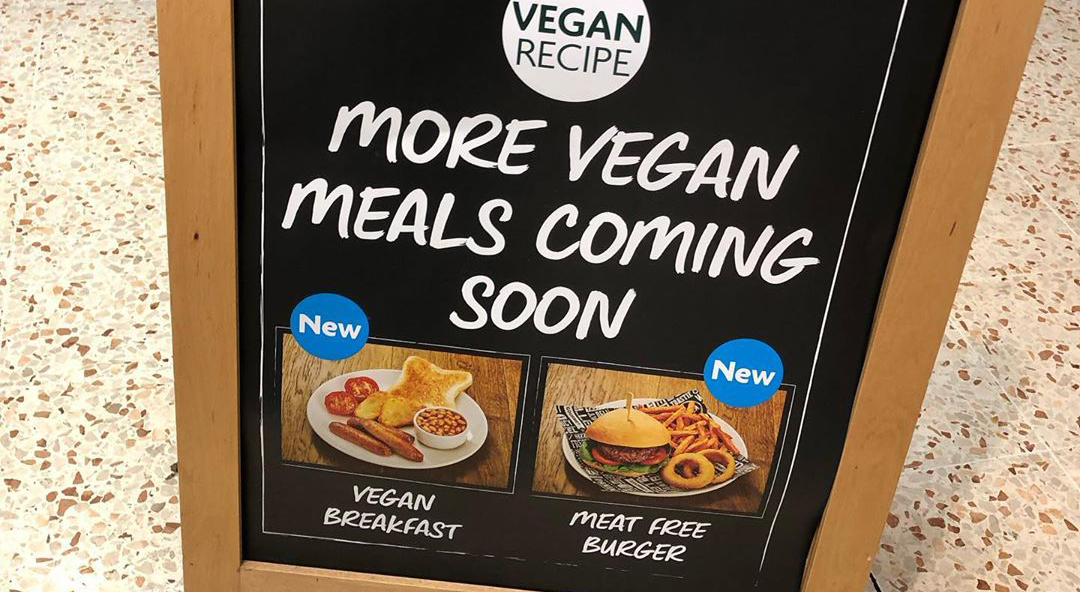 Morrisons adds a vegan fry up and meat-free burger to its café menu