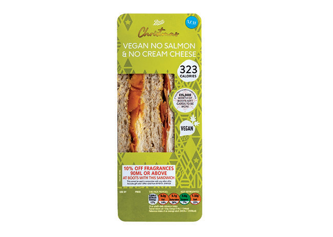 boots vegan christmas sandwiches