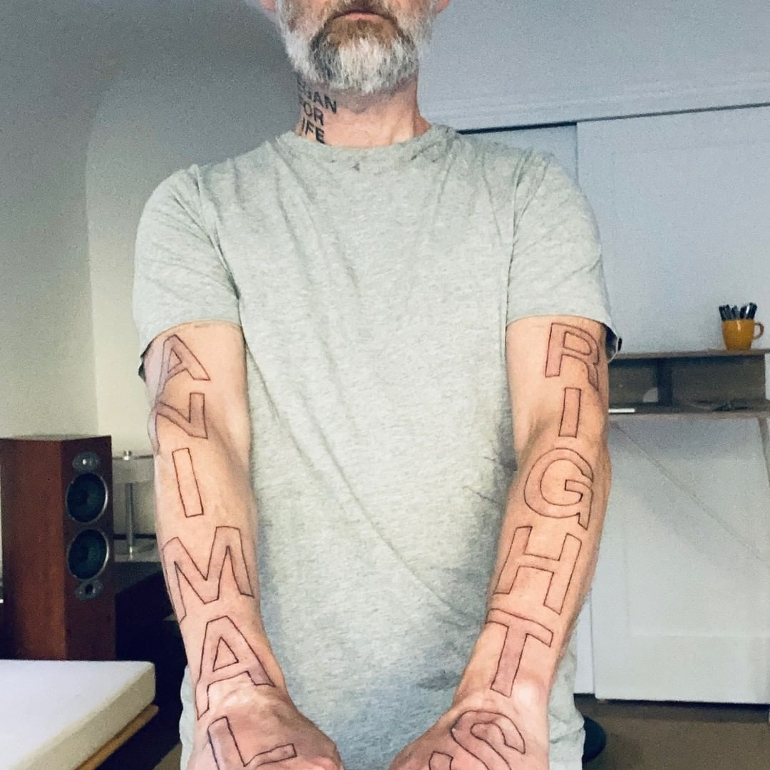 moby animal rights tattoo