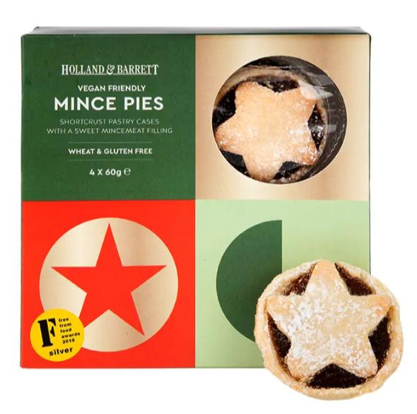 holland and barrett vegan mince pies