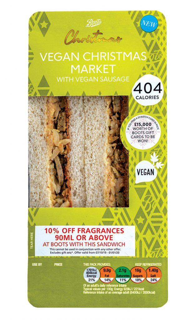 Vegan Christmas sandwich