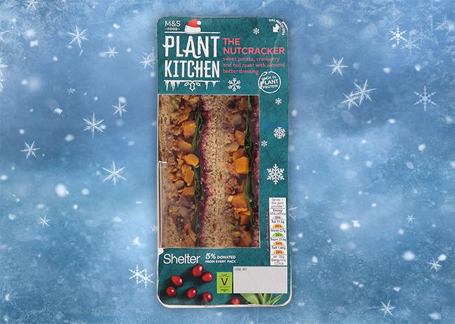vegan christmas sandwiches