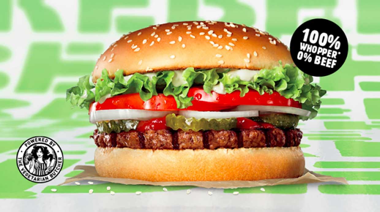 Plant-based Rebel Whopper burger launches in 2,500 European Burger King restaurants