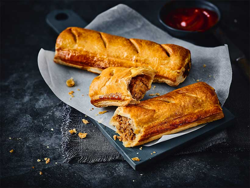 Marks & Spencer is now selling hot vegan sausage rolls and they're 50% larger