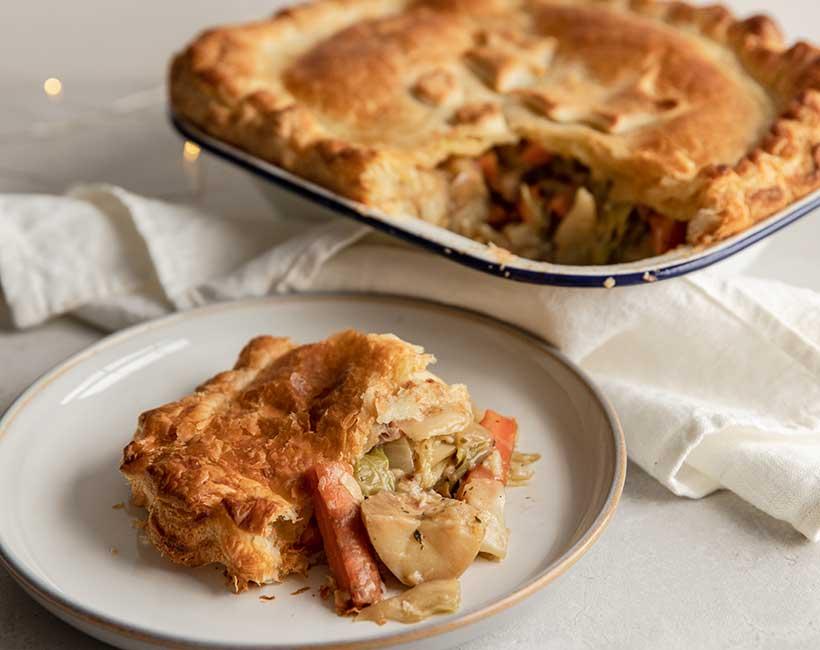 Leftover Vegetable Christmas Pie