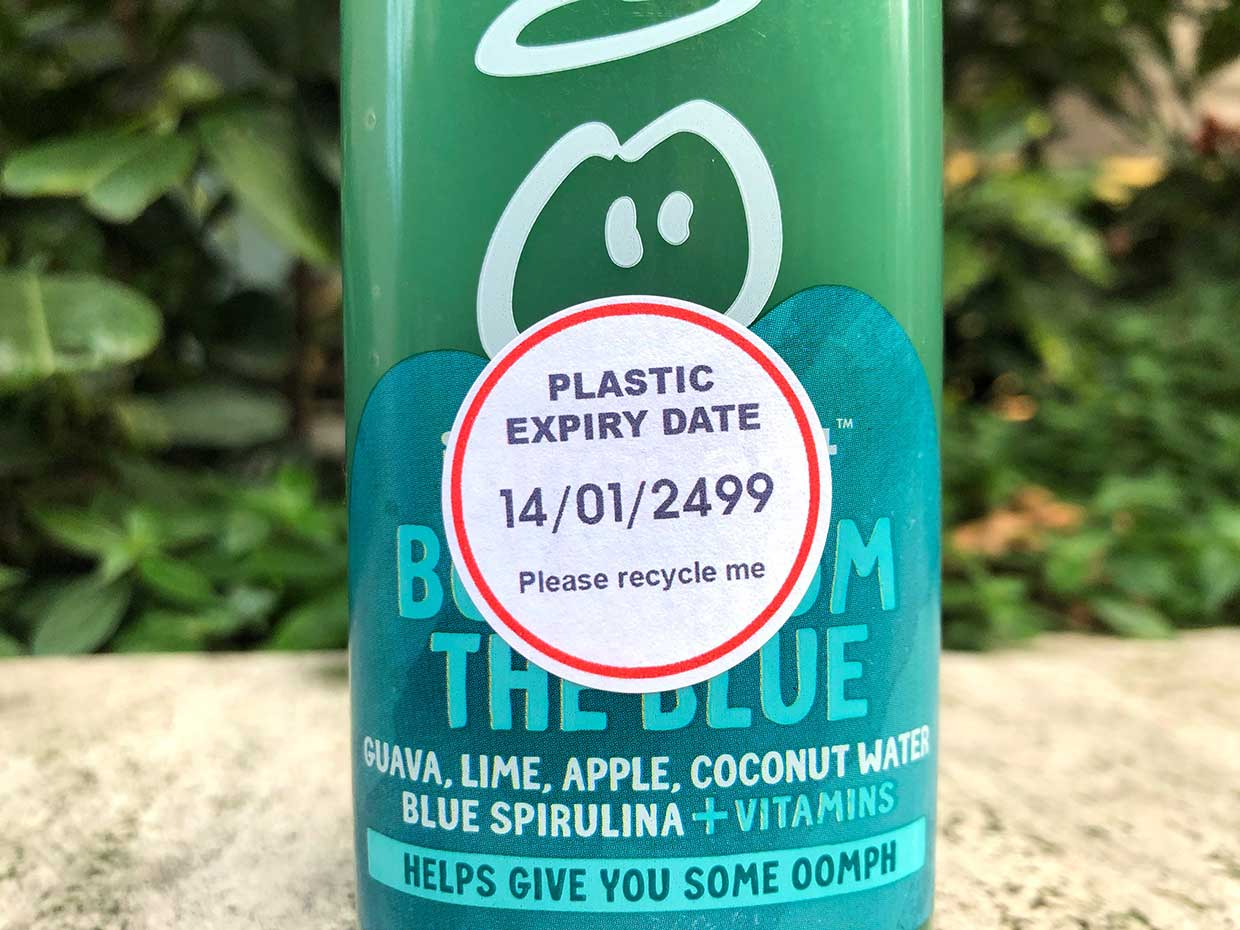 'Plastic expiry dates' are appearing on supermarket products to encourage recycling